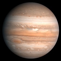 Superfície do planeta Júpiter