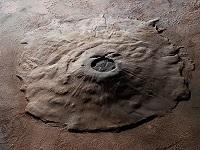 Vulcão Monte Olimpo, em Marte