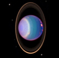 Fotografia de Urano pelo Telescópio Hubble