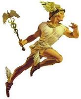 Ilustração do deus grego Hermes